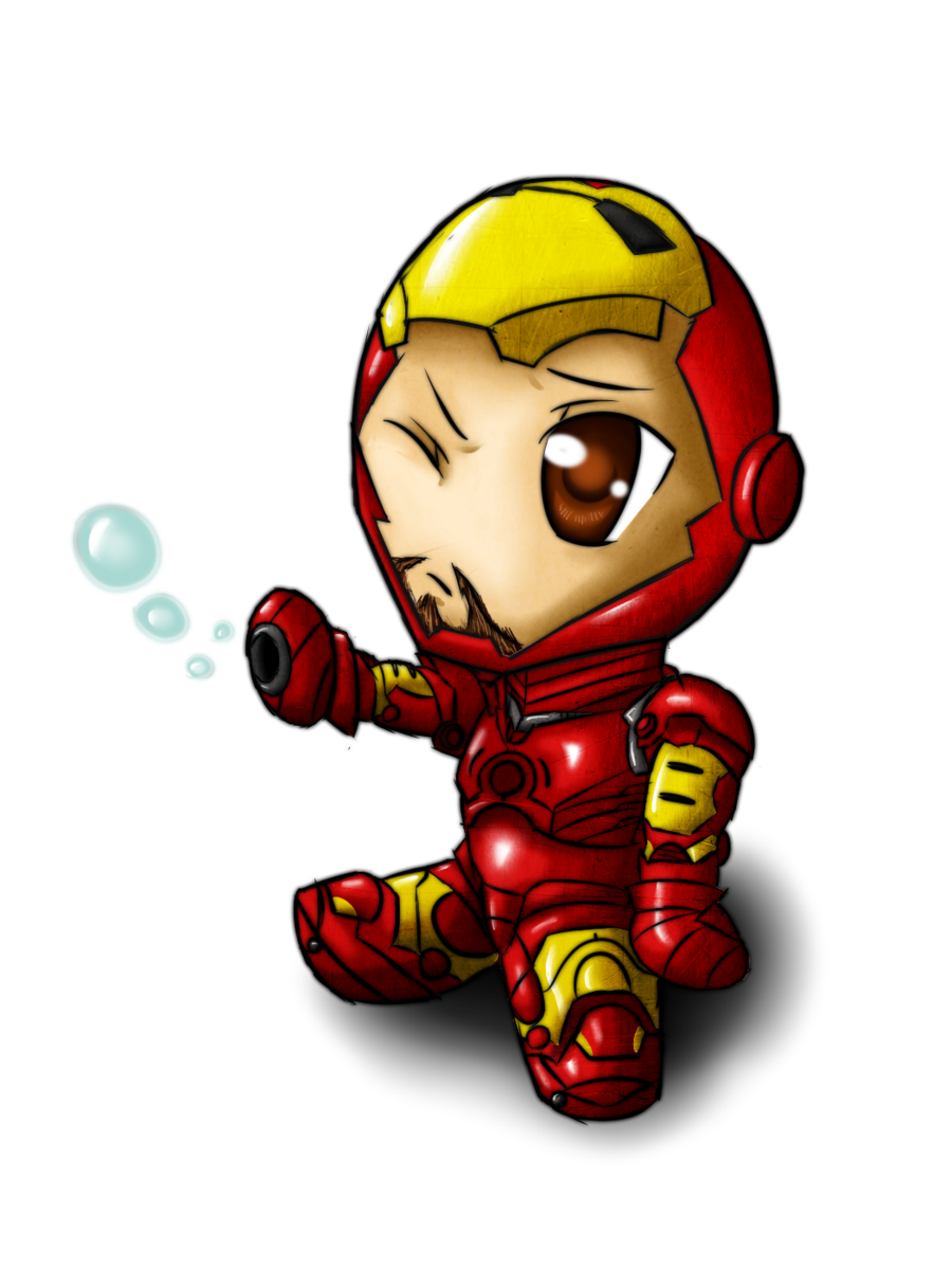 scanned drawing iron man
