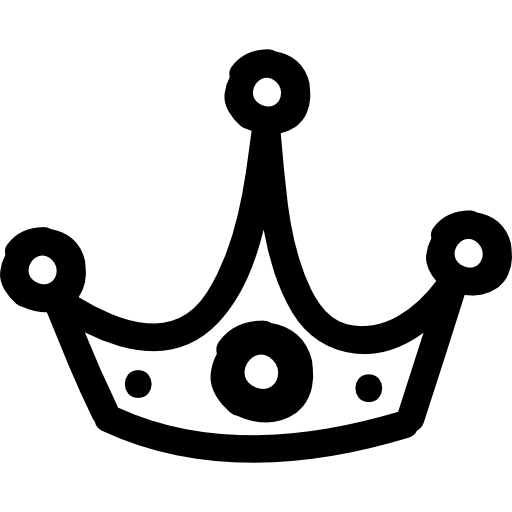 Drawing icons outline. Crown hand drawn free