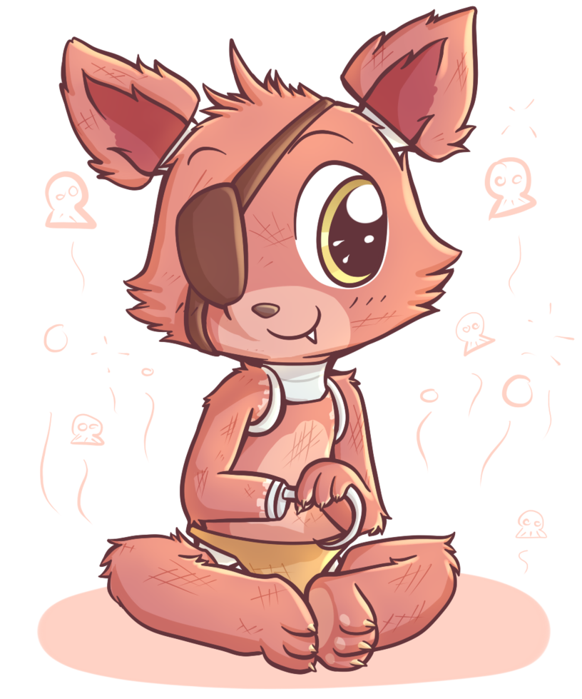 Foxy transparent cute. Awwww look at little