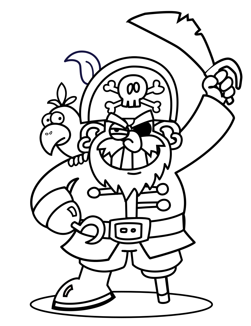 A pirate s life. Drawing pirates outline vector free stock