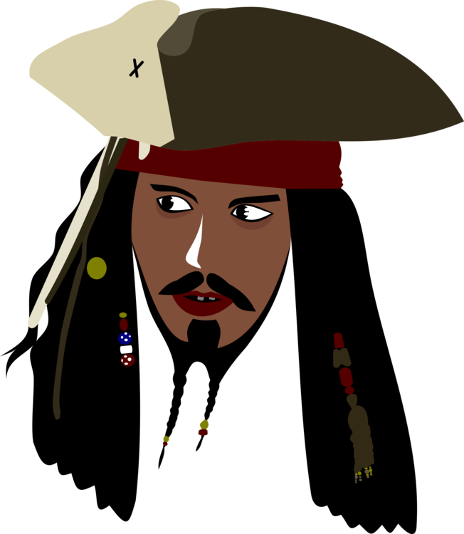Jack drawing illustration. Sparrow pirates of the