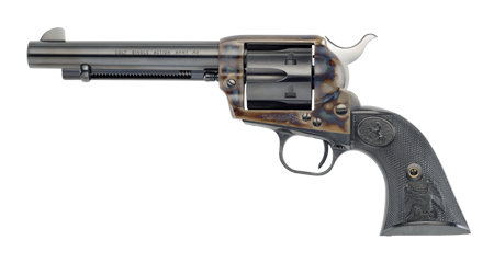 Drawing pistol artistic. The weapons of literary