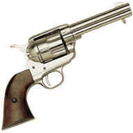 Western drawing pistol. Pistols cowboy revolvers and
