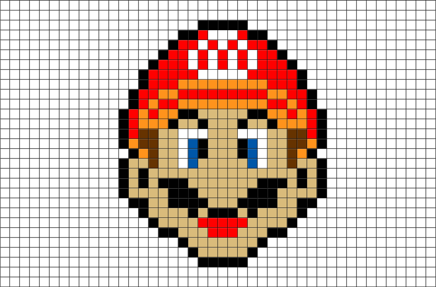 Drawing Pixels Mario Transparent Png Clipart Free Download
