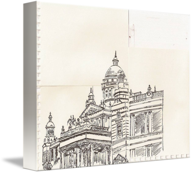 Drawing place. Lalith mahal by s