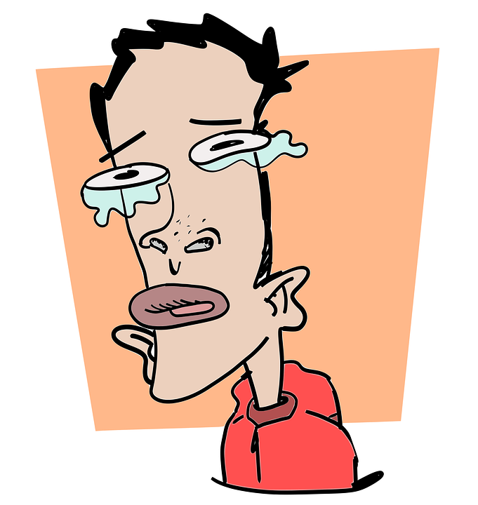 Satire drawing depressing. Collection of free clipart