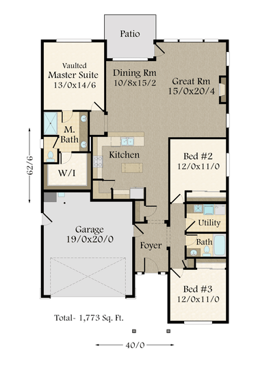 Drawing plan color. Ad main floor housing