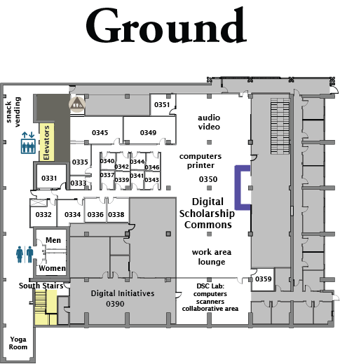 Drawing plan ground floor. Mchenry library plans university