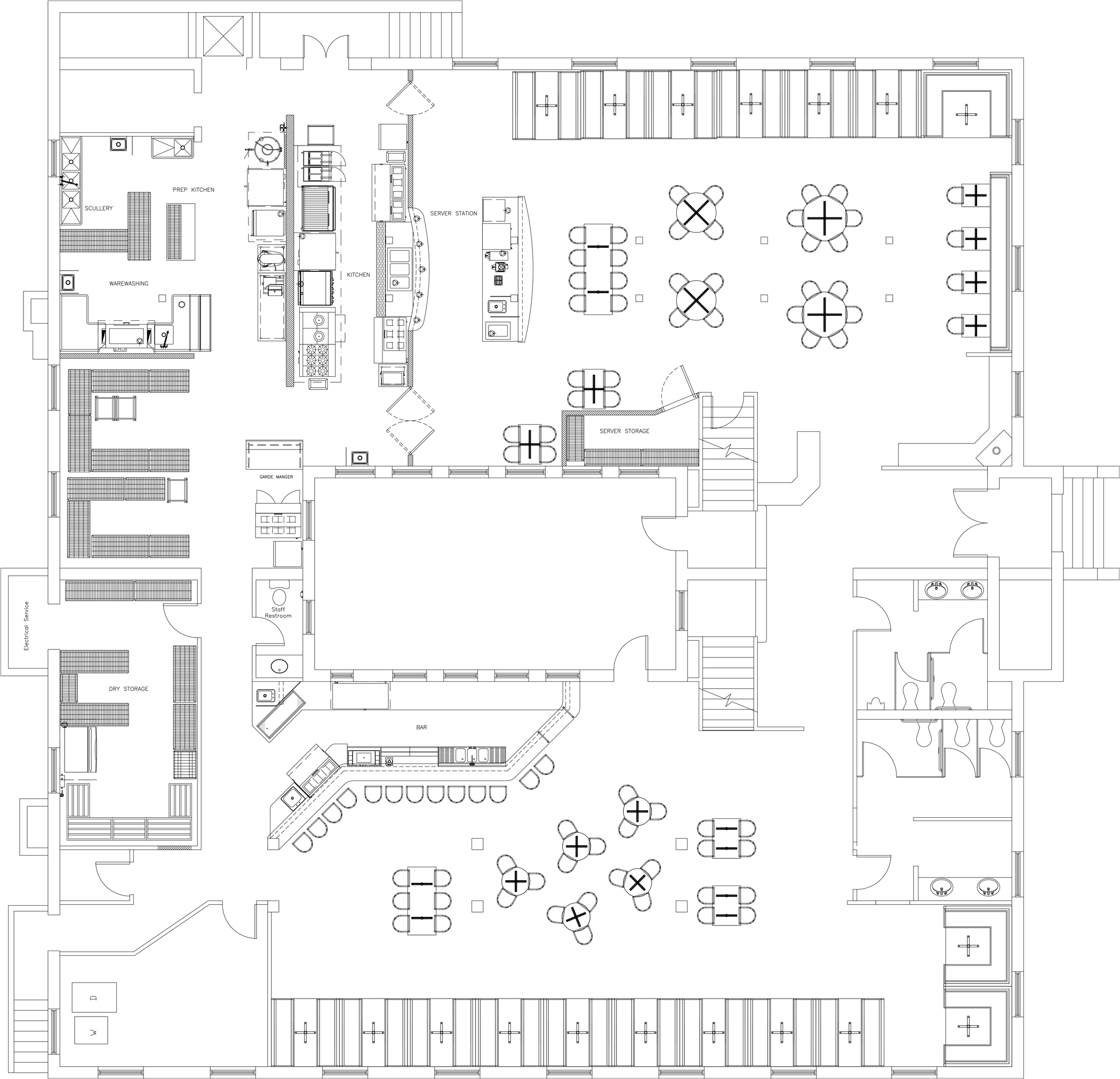 Drawing plan kitchen. The pearl of africa