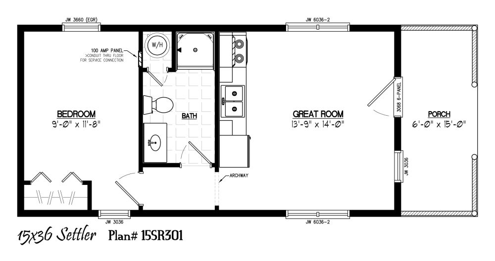 Drawing plan rectangle. Floor plans for x