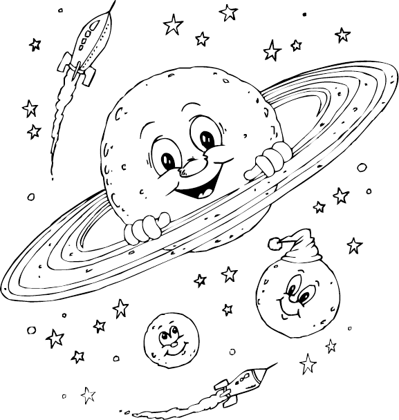 Drawing planets. Planet for kids at
