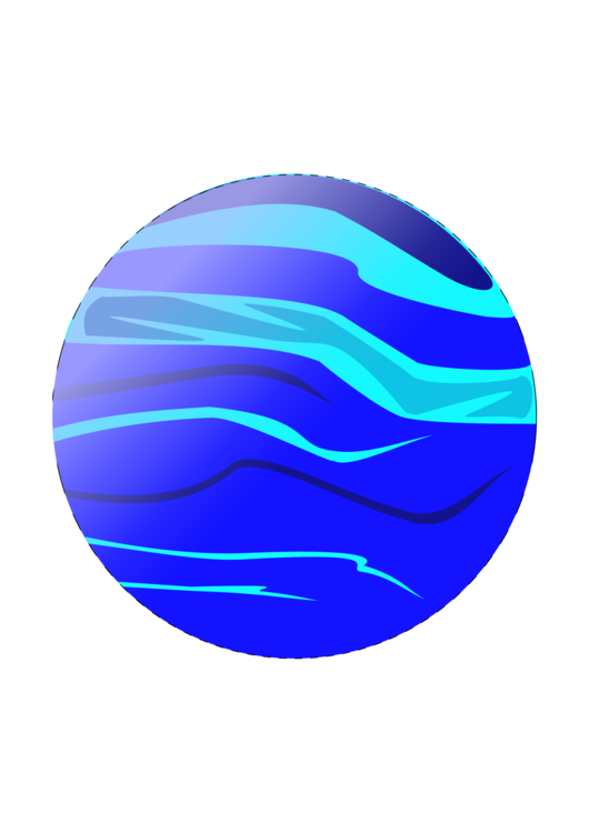 Drawing planets. Computer icons planet web