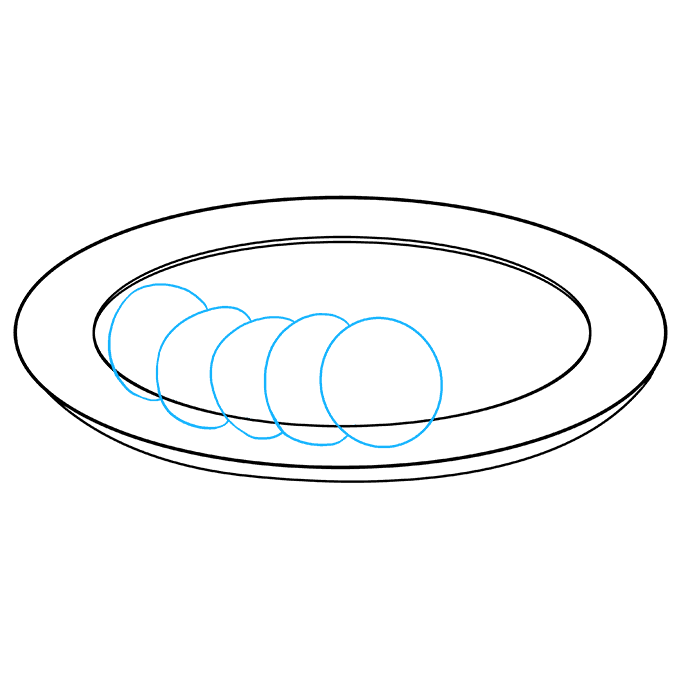 Drawing oval easy. How to draw salad
