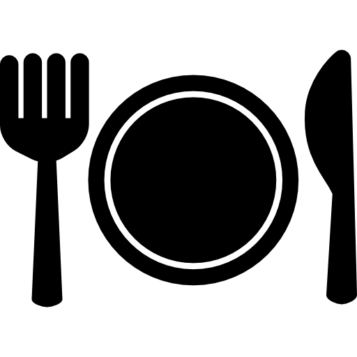 Napkin vector plate fork spoon. And knife icons free