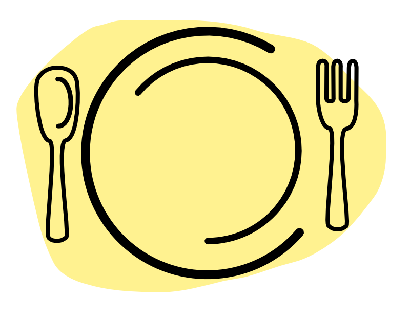 Drawing plate utensil clipart. Collection of free feazed