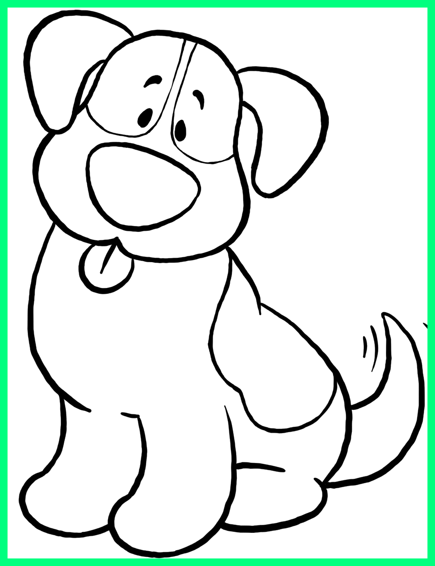Drawing point printable coloring. Amazing big dog colouring