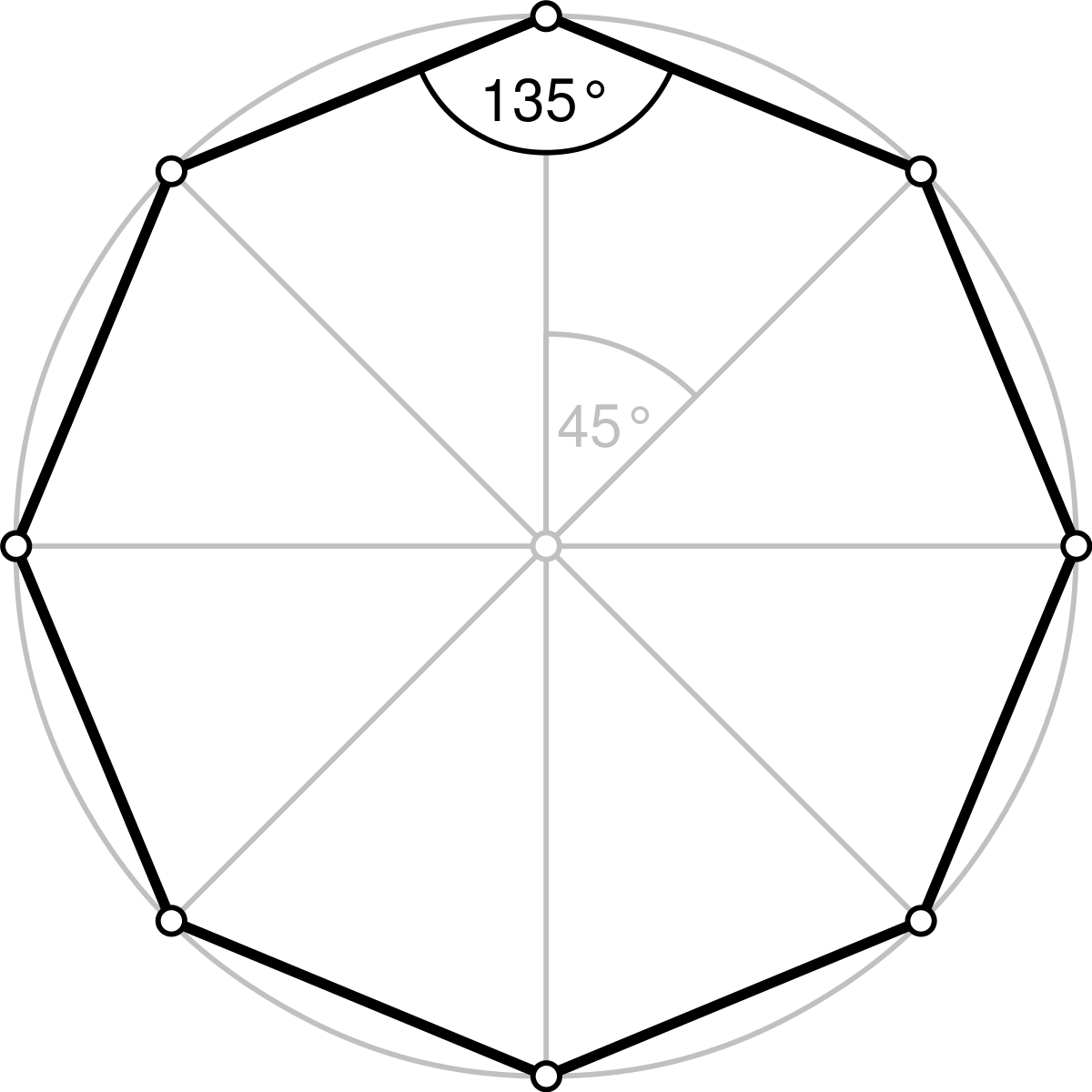 Polygons drawing art. Octagon wikipedia