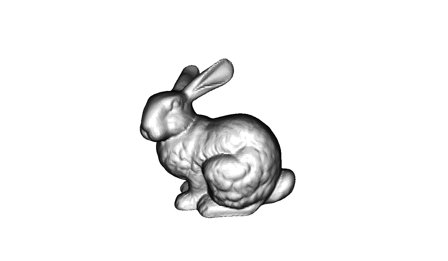 Drawing polygons bunny. How to render a