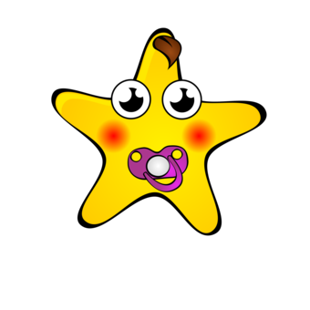 Polygons drawing cartoon. Star in art and
