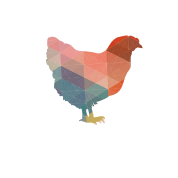 Polygons drawing chicken. Polygon women s polo