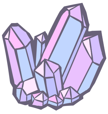 Drawing polygons crystal cluster. By buoyfriend on deviantart