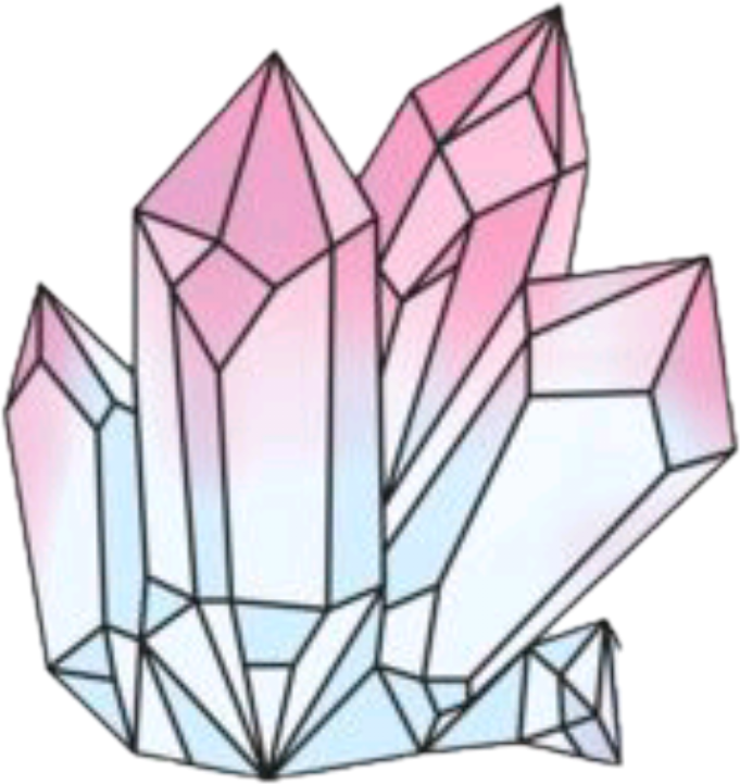 Drawing polygons crystal cluster. Sticker decal aestheticism clipart