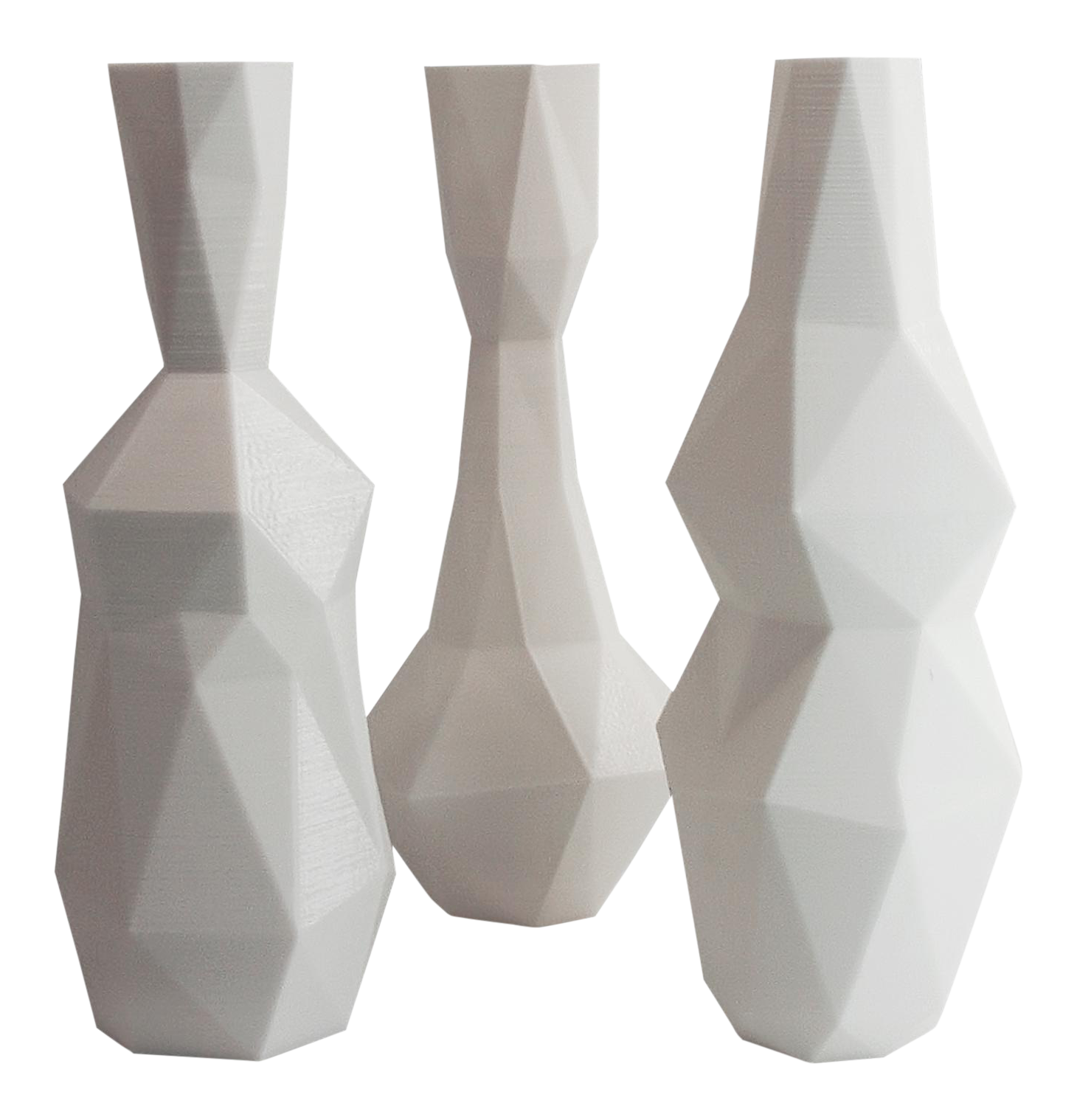 Cubism drawing vase. White d printed cubist