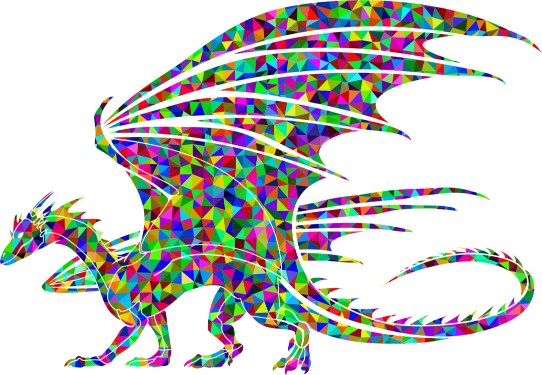 Polygons drawing dragon. Computer icons triquetra graphics