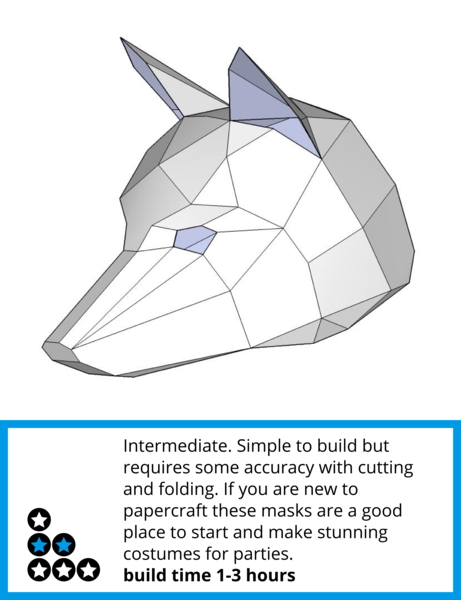 Drawing polygons origami fox. These plans enable you