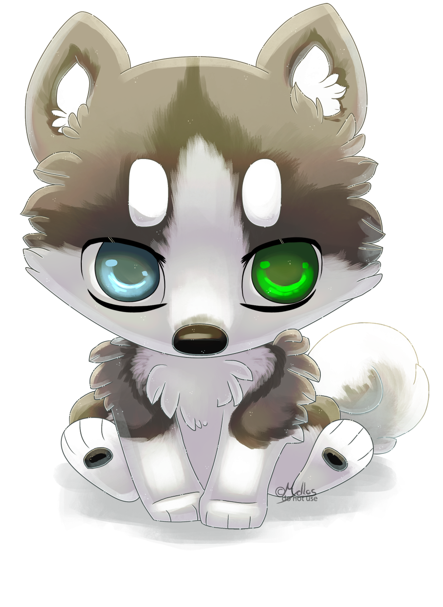 Drawing polygons husky. Chibi by mydlas on