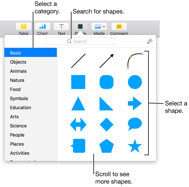 Drawing polygons pen. Keynote for mac add
