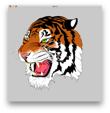 Drawing polygons tiger. The tessellate polygon algorithm