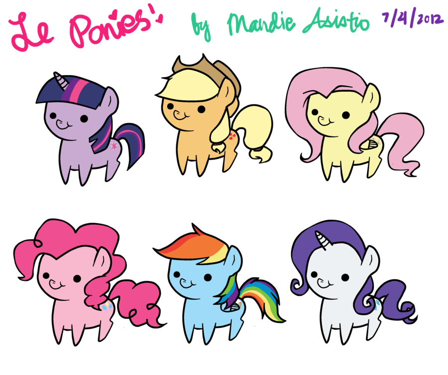 Drawing friendship cute. My little pony is