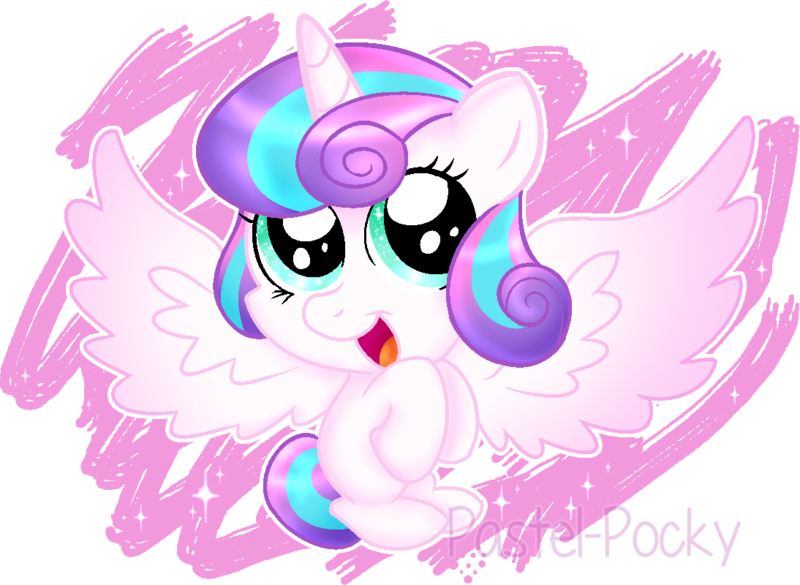 Drawing ponies flurry heart. Princess by pastel pocky