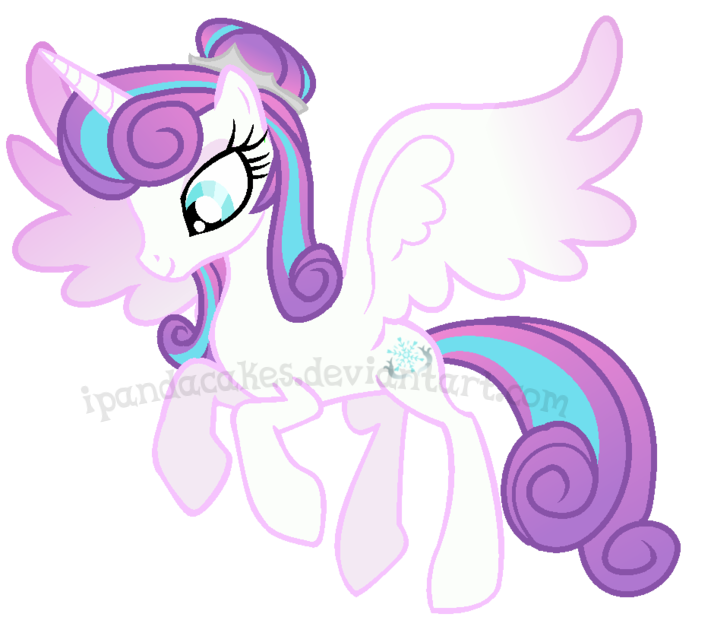 Drawing ponies flurry heart. Pandaverse by ipandacakes on
