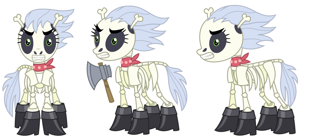 Drawing ponies reference. Commission skellinore by sketchmcreations