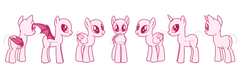 Drawing ponies reference. My little pony sheet