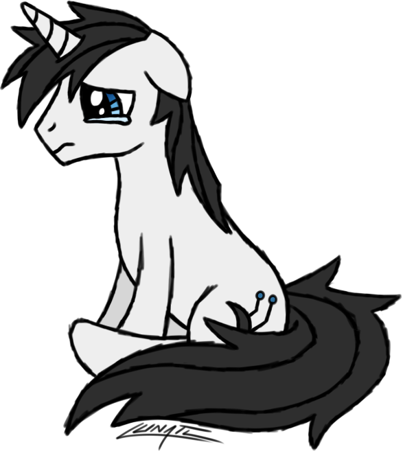 Drawing ponies sad. Collection of pony