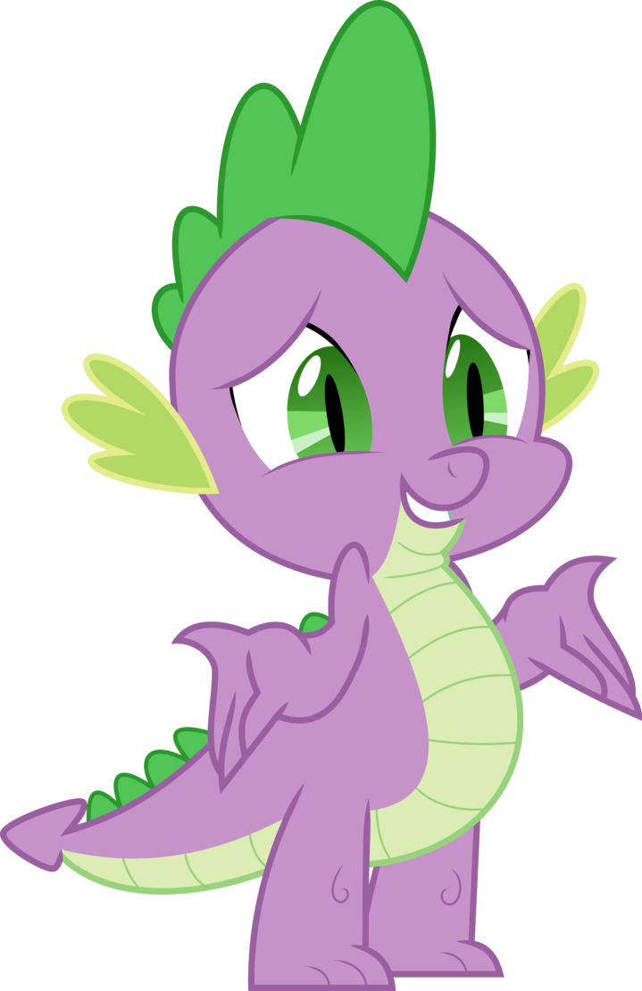 Drawing ponies spike. Shrug vector by starshinecelestalis