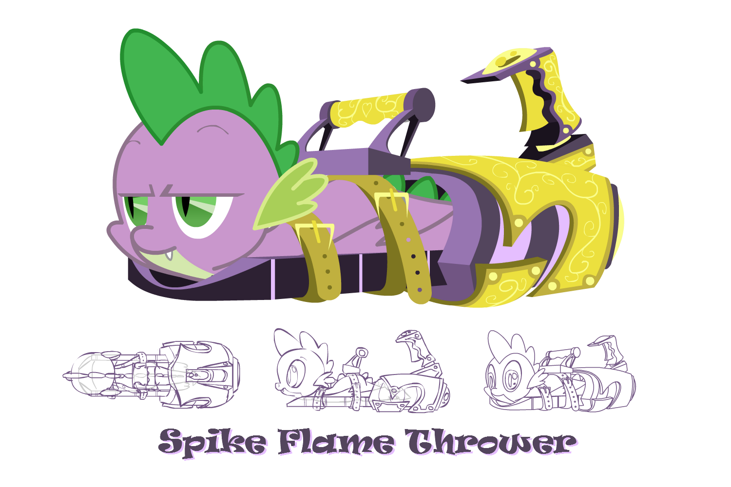 Drawing ponies spike. Image my little pony