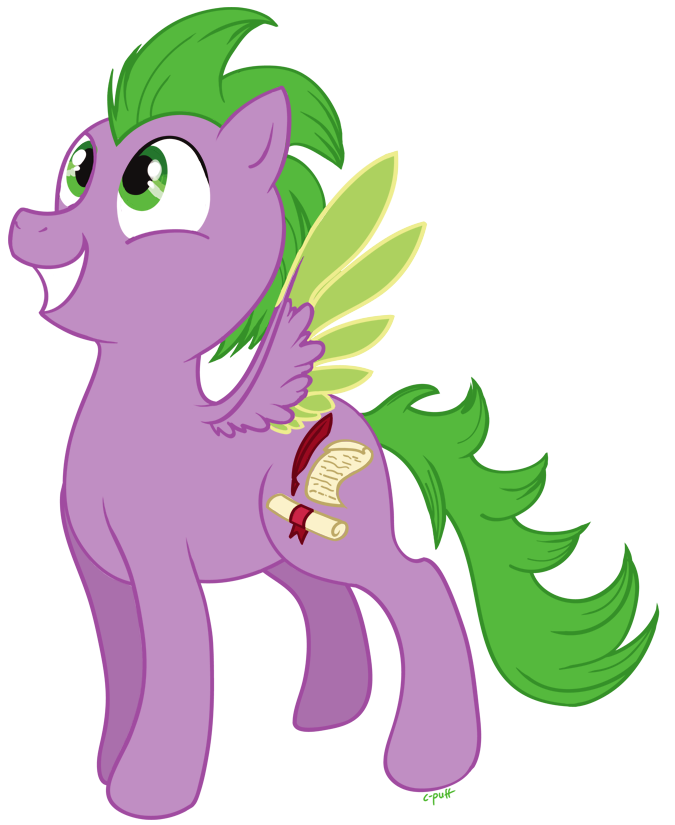 Drawing ponies spike. Pony by c puff