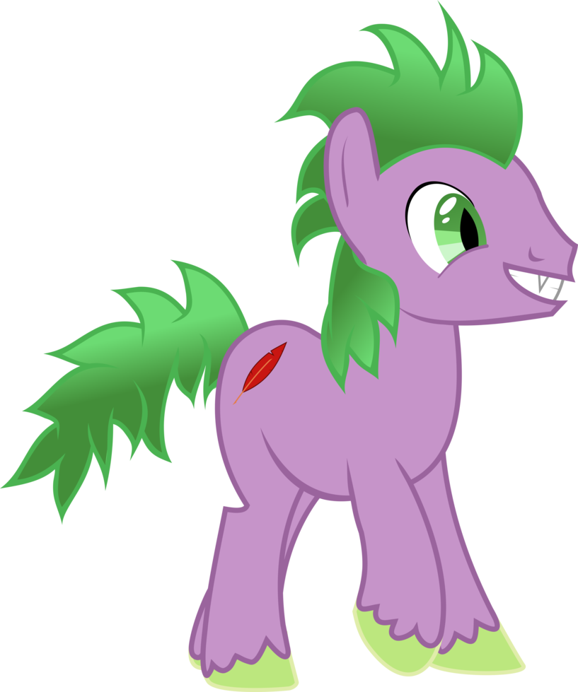Drawing ponies spike. Pony by exbibyte on