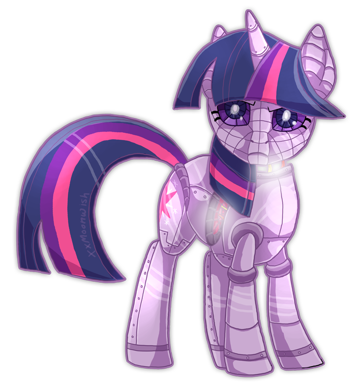 Drawing ponies twilight sparkle. Robot by themoonfall on