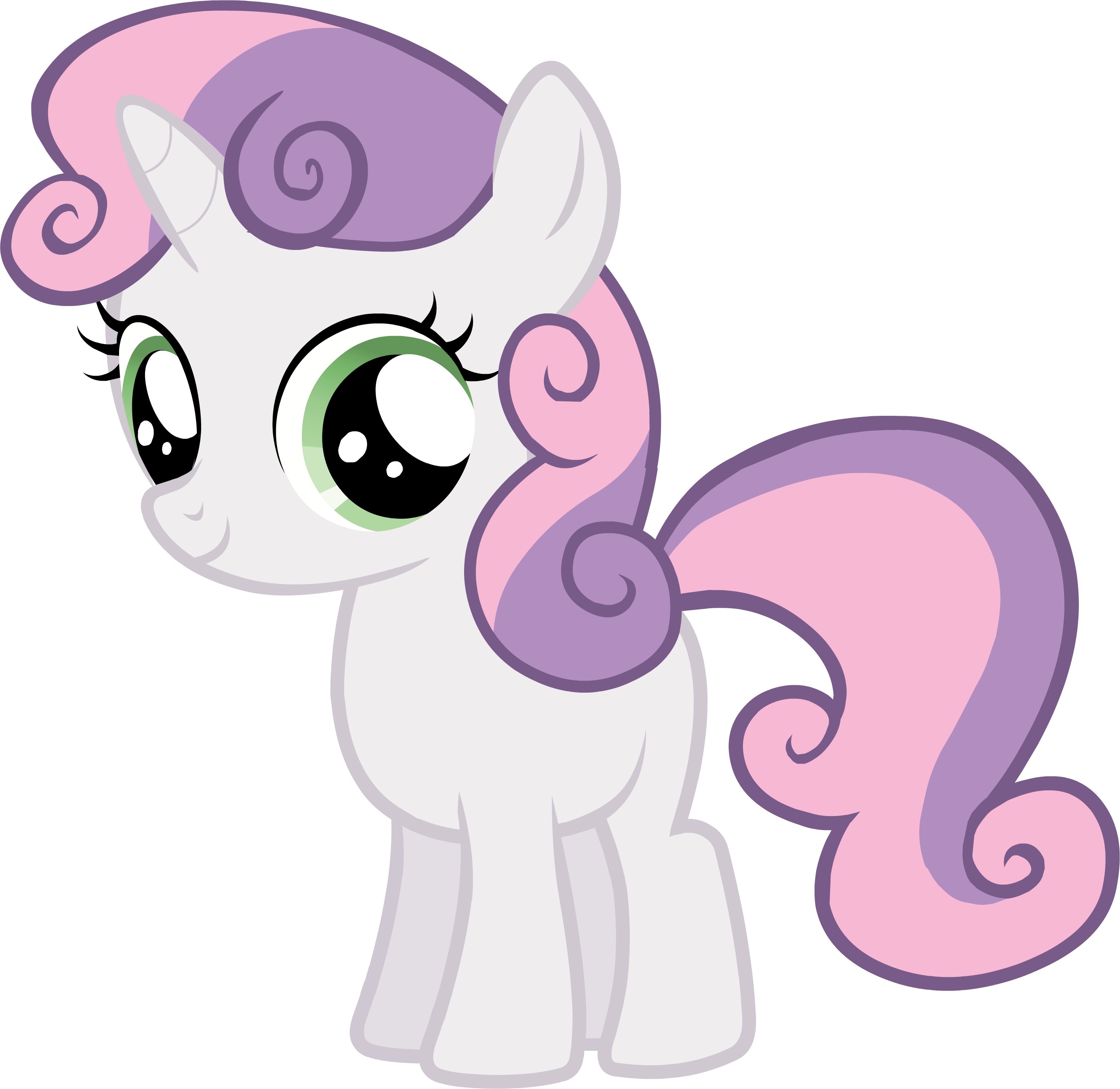 Drawing unicorns my little pony. Sweetie belle stencils silhouettes