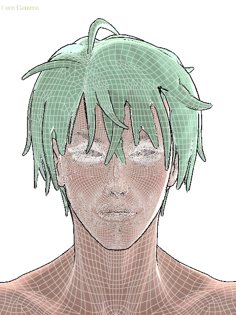 Drawing poser boy. Pro geom line colour