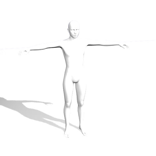 Drawing poser model. Shadows only daz d