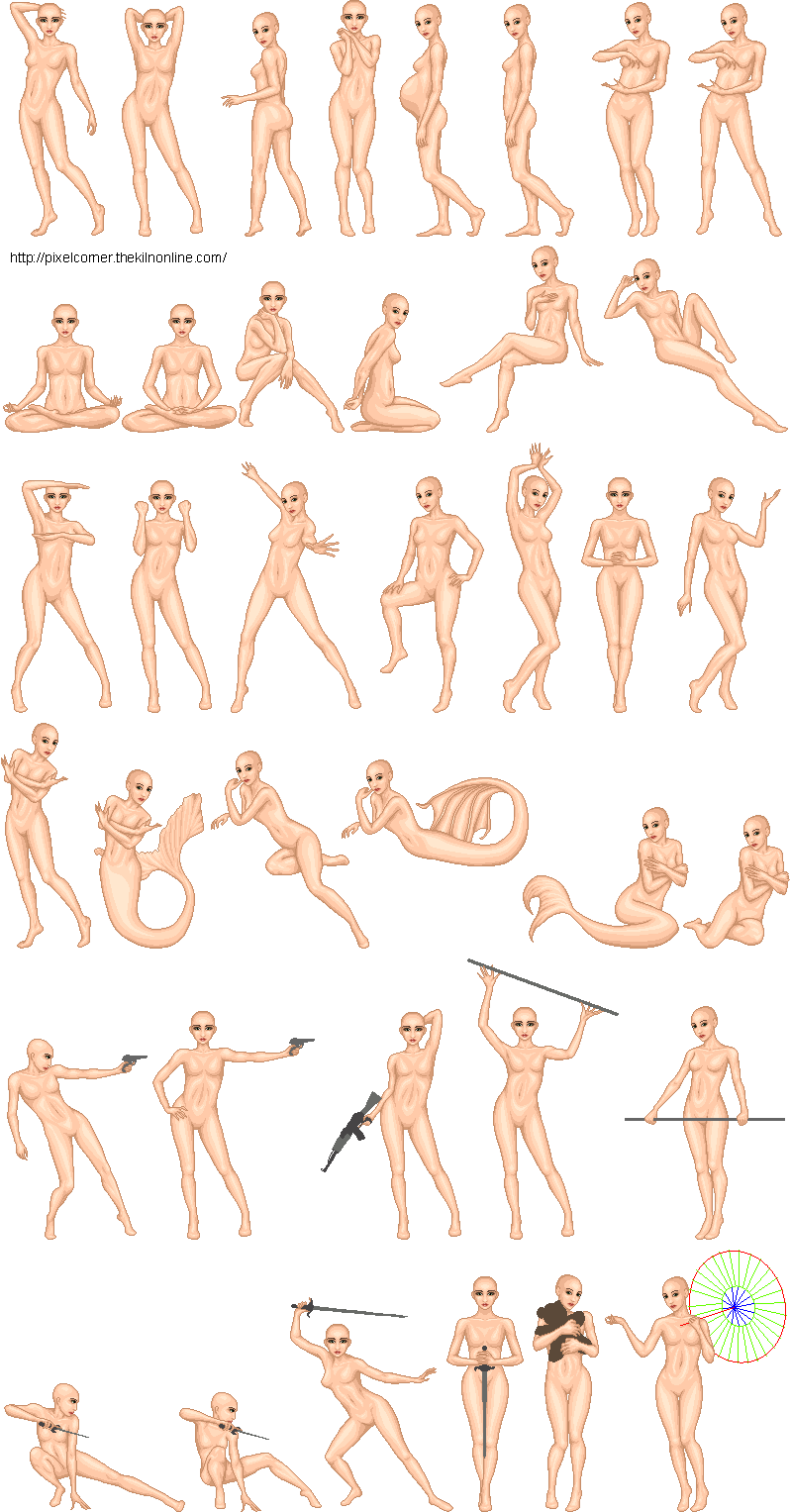 Drawing Poser Male Transparent & PNG Clipart Free Download - YA