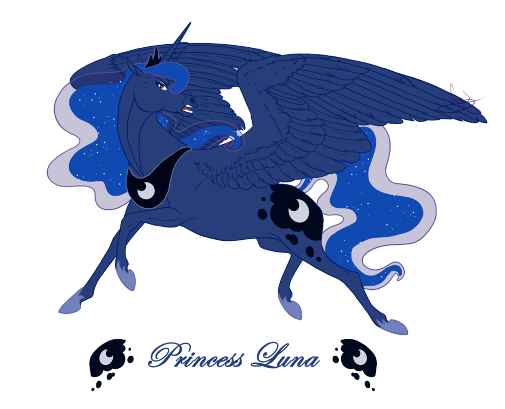 Drawing position realistic. Princess luna by vanycat