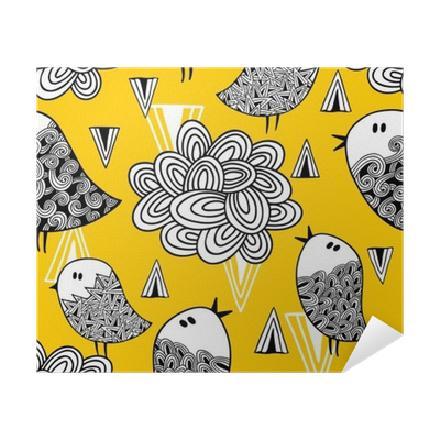 Drawing posters creative. Seamless pattern with doodle