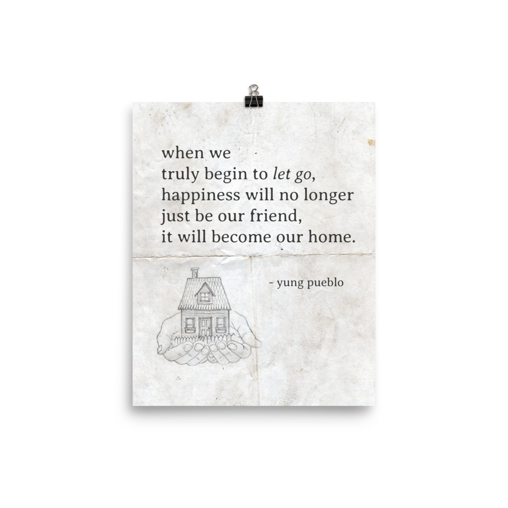 Drawing posters happiness. Is home poster print